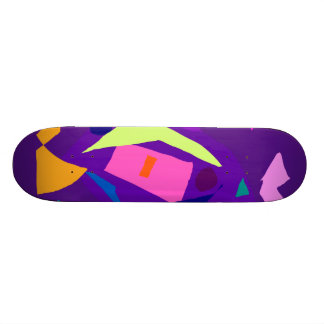 Do Your Best as a Human Being Purple Daylight Skate Board