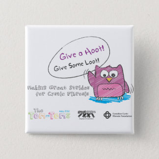 Do Your Part to Find a Cure! 15 Cm Square Badge