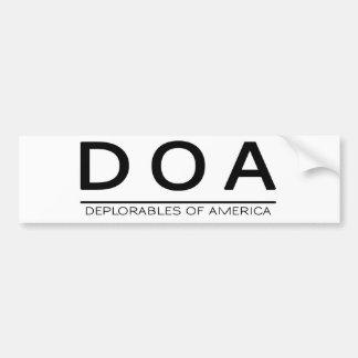 DOA Bumper Sticker