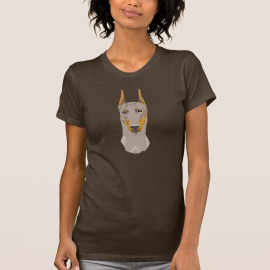 Dob erman Head, Fawn T-Shirt