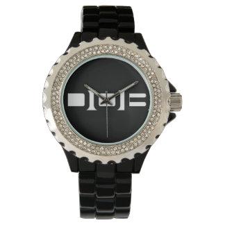 DOB Ladies Black Ceramic Watch
