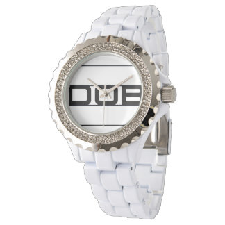 DOB Ladies White Ceramic Watch