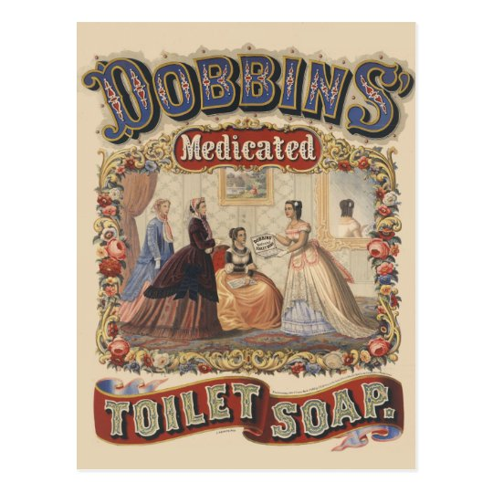 Dobbins' medicated toilet soap Advertisement Postcard