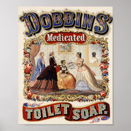 Dobbins Medicated Toilet Soap Advertisement Poster