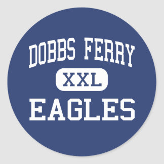 Dobbs Ferry - Eagles - High - Dobbs Ferry New York Round Sticker