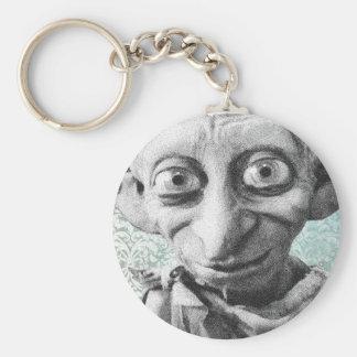 Dobby 4 basic round button key ring