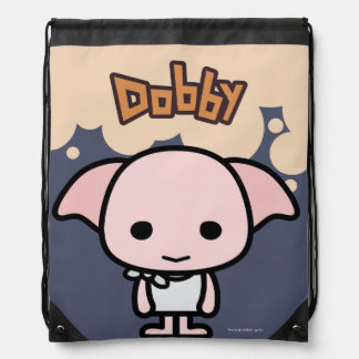 Dobby Cartoon Character Art Drawstring Bag