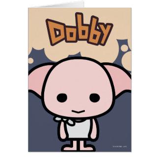 Dobby Cartoon Character Art Greeting Card