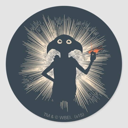 Dobby Casting Magic Classic Round Sticker