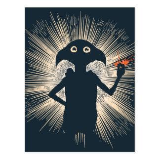 Dobby Casting Magic Postcard
