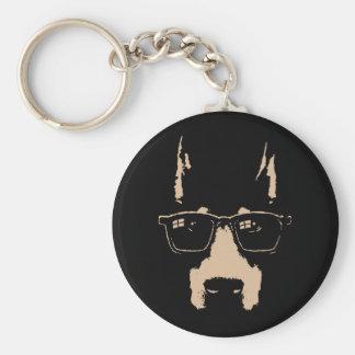 Dobe Glasses Basic Round Button Key Ring