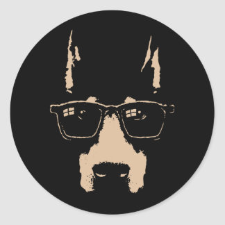 Dobe Glasses Classic Round Sticker
