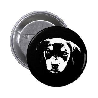 Dobe Pup -bw 6 Cm Round Badge