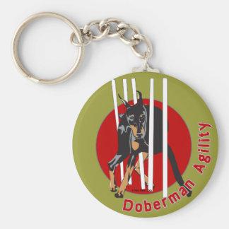 Doberman Agility Weaves Key Ring