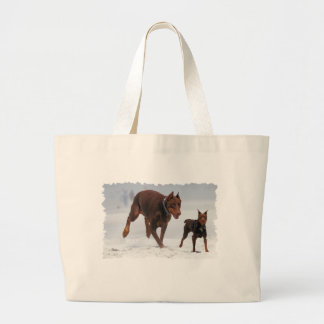 Doberman and Min Pin - LOOK A Mini Me Canvas Bags