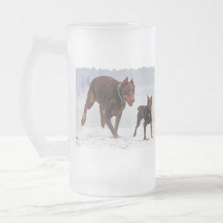 Doberman and Min Pin - LOOK A Mini Me Coffee Mug