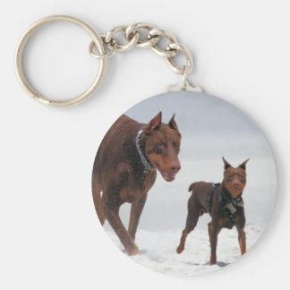 Doberman and Min Pin - LOOK! A Mini Me! Keychain