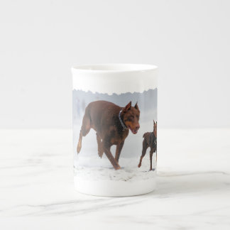 Doberman and Min Pin - LOOK! A Mini Me! Tea Cup
