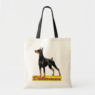 Doberman- black tote bag