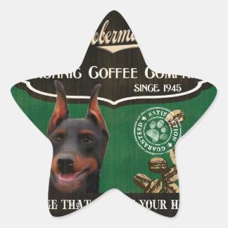 Doberman Brand – Organic Coffee Company Star Sticker