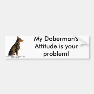 doberman bumper sticker
