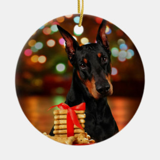 Doberman Christmas Christmas Ornament