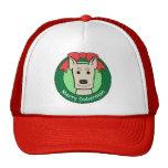 Doberman Christmas Trucker Hat