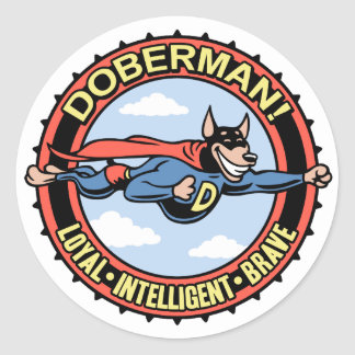 Doberman! Classic Round Sticker
