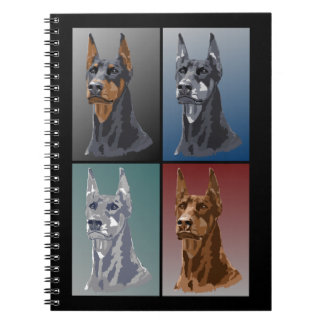 Doberman Colors Spiral Notebook