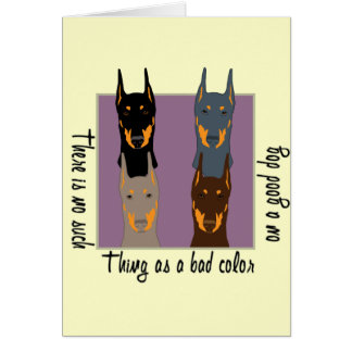 Doberman colours greeting card