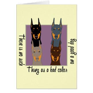 Doberman colours greeting card