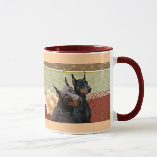 Doberman Couple  Mug