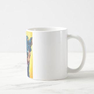Doberman crop basic white mug