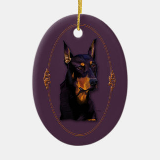 Doberman customizable ornament