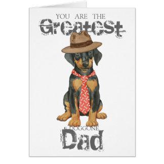 Doberman Dad Greeting Card