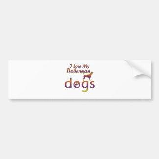 Doberman designs car bumper sticker
