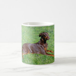 Doberman dog coffee mug