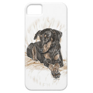 Doberman Dog Natural Ears iPhone 5 Cover
