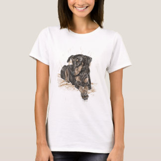 Doberman Dog Natural Ears T-Shirt