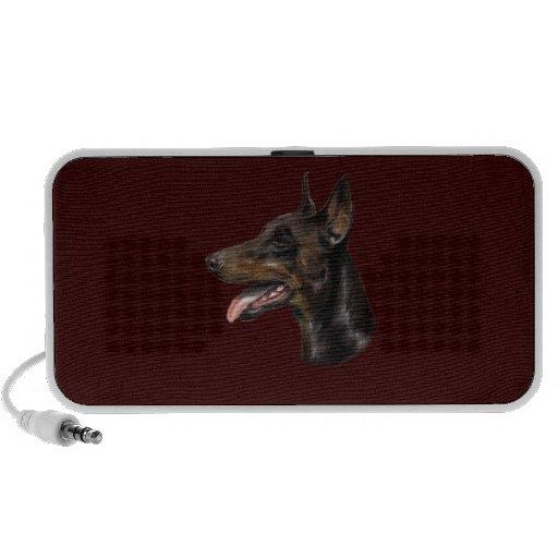 Doberman Dog Painting Mp3 Speaker