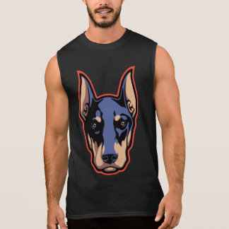 Doberman Face Sleeveless Shirt