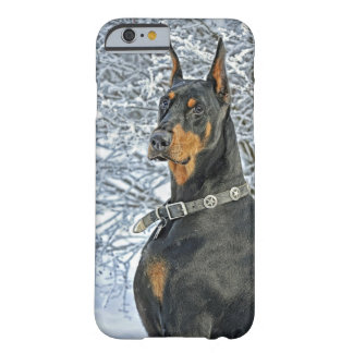 Doberman Frosty Day Barely There iPhone 6 Case