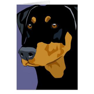 Doberman Head Black Uncropped Greeting Card