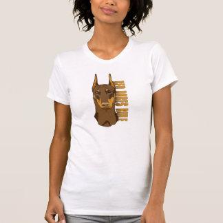 Doberman Head, Red Dobes Rule T-shirt