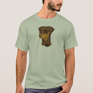 Doberman Head, Red, Uncropped T-Shirt