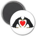 Doberman Heart Magnet