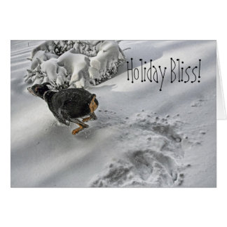 Doberman Holiday Bliss Greeting Card