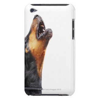 Doberman howling barely there iPod case