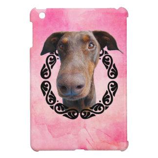 Doberman in frame case for the iPad mini