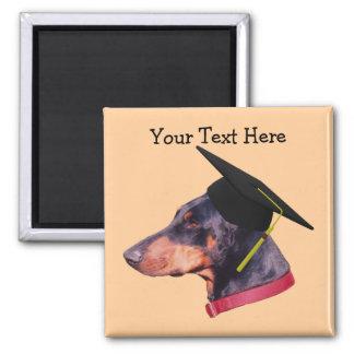 Doberman In Graduation Cap Funny Dog Magnet